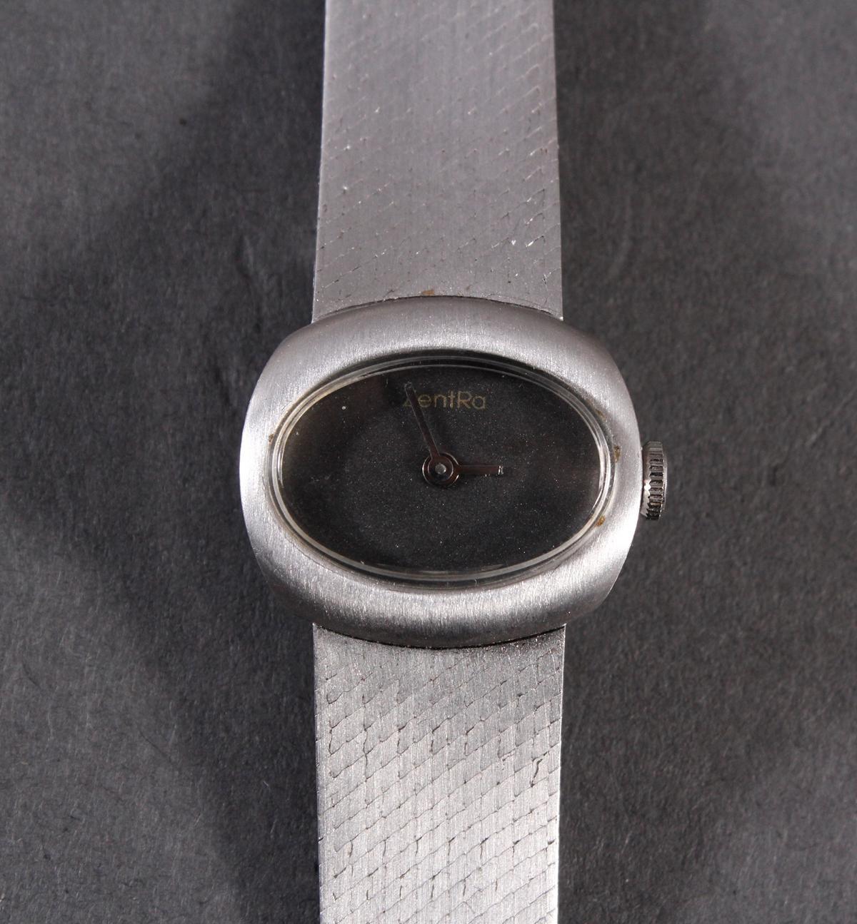 Zentra Damenarmbanduhr aus 14 kt Weißgold-2