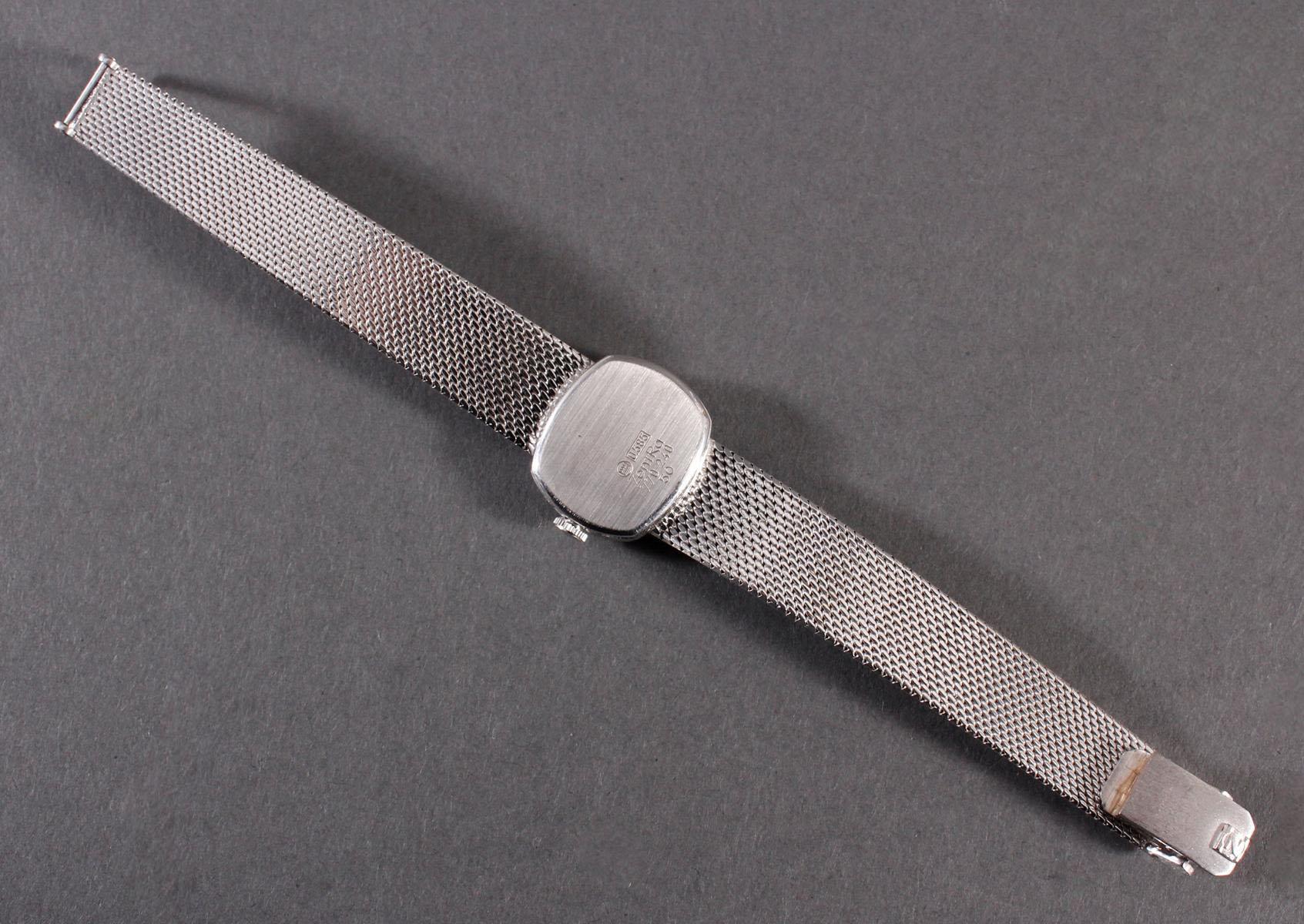 Zentra Damenarmbanduhr aus 14 kt Weißgold-4