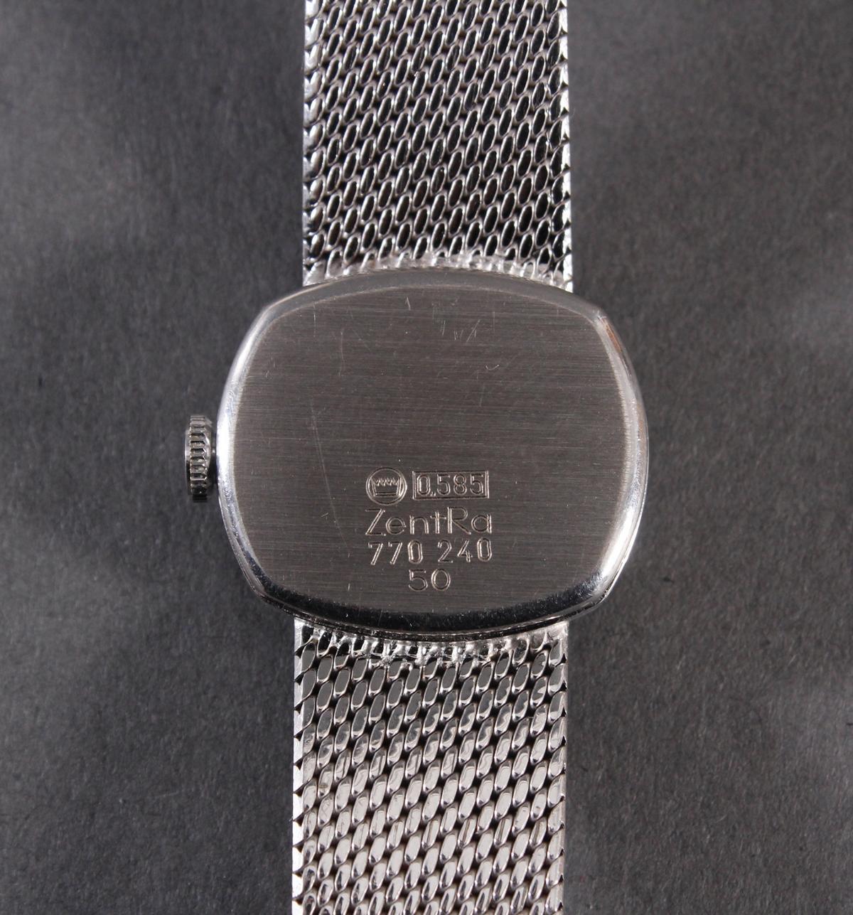 Zentra Damenarmbanduhr aus 14 kt Weißgold-5