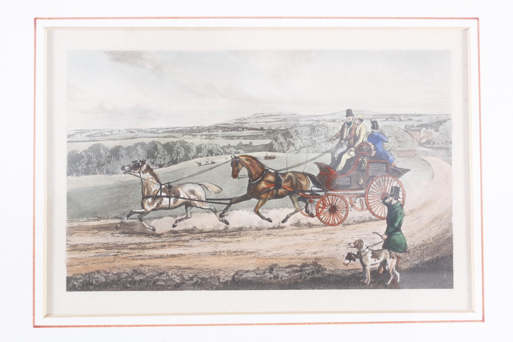 Konvolut Druckgrafiken zum Thema Reiter und Pferde-4