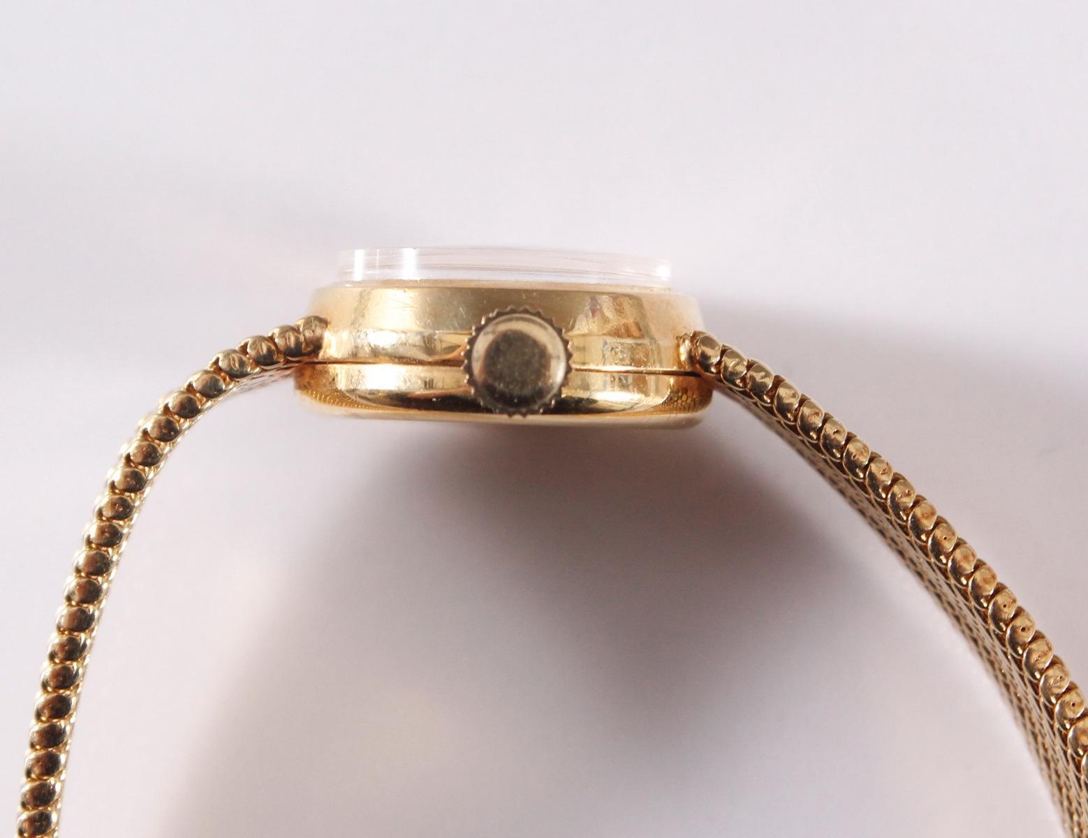 Recta Damenuhr aus 14 kt Gelbgold-3