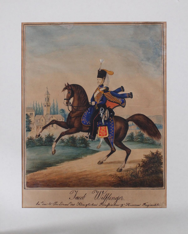 Preussische Reiterdarstellung. Jacob Wilflinger