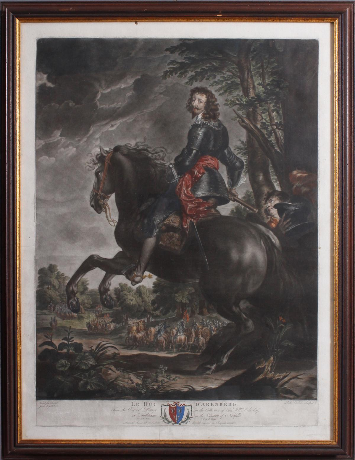 Earlom, Richard, 1743 – 1822 London. Le Duc D´Arenberg