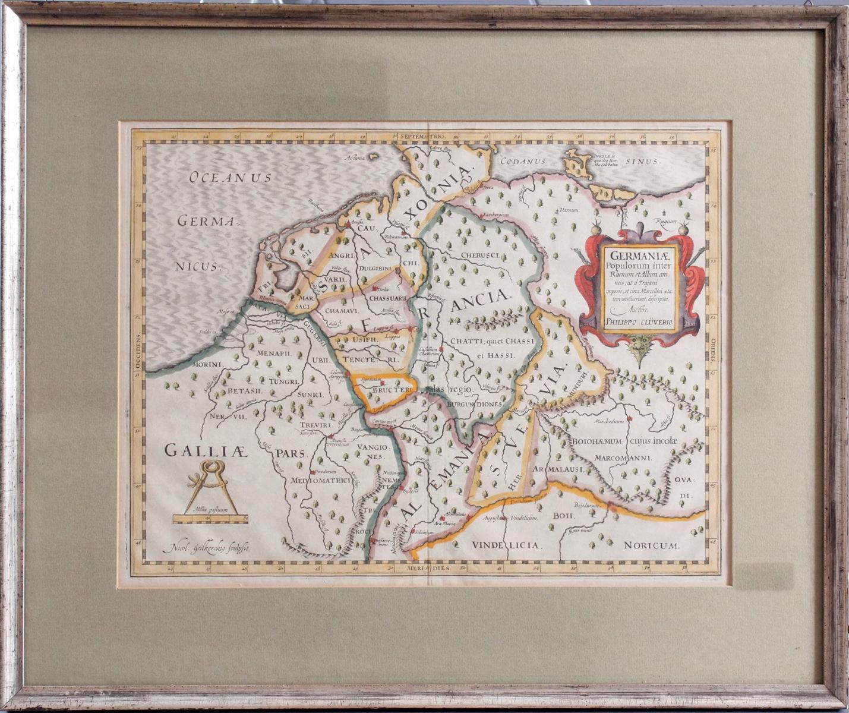 Kupferstich aus dem 17. Jh. Germania Populorum inter Rhenum et Albim am neis ut a Trajani