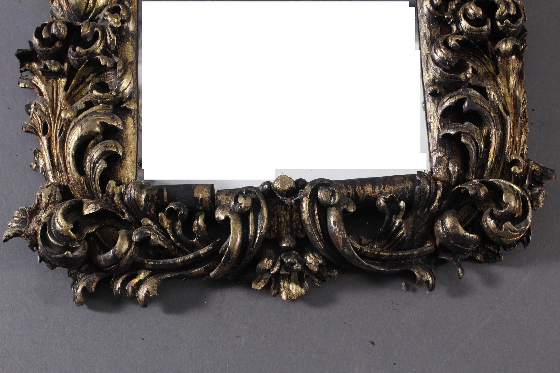 Barock Spiegel aus Holz, Süddeutsch 18. Jh.-3