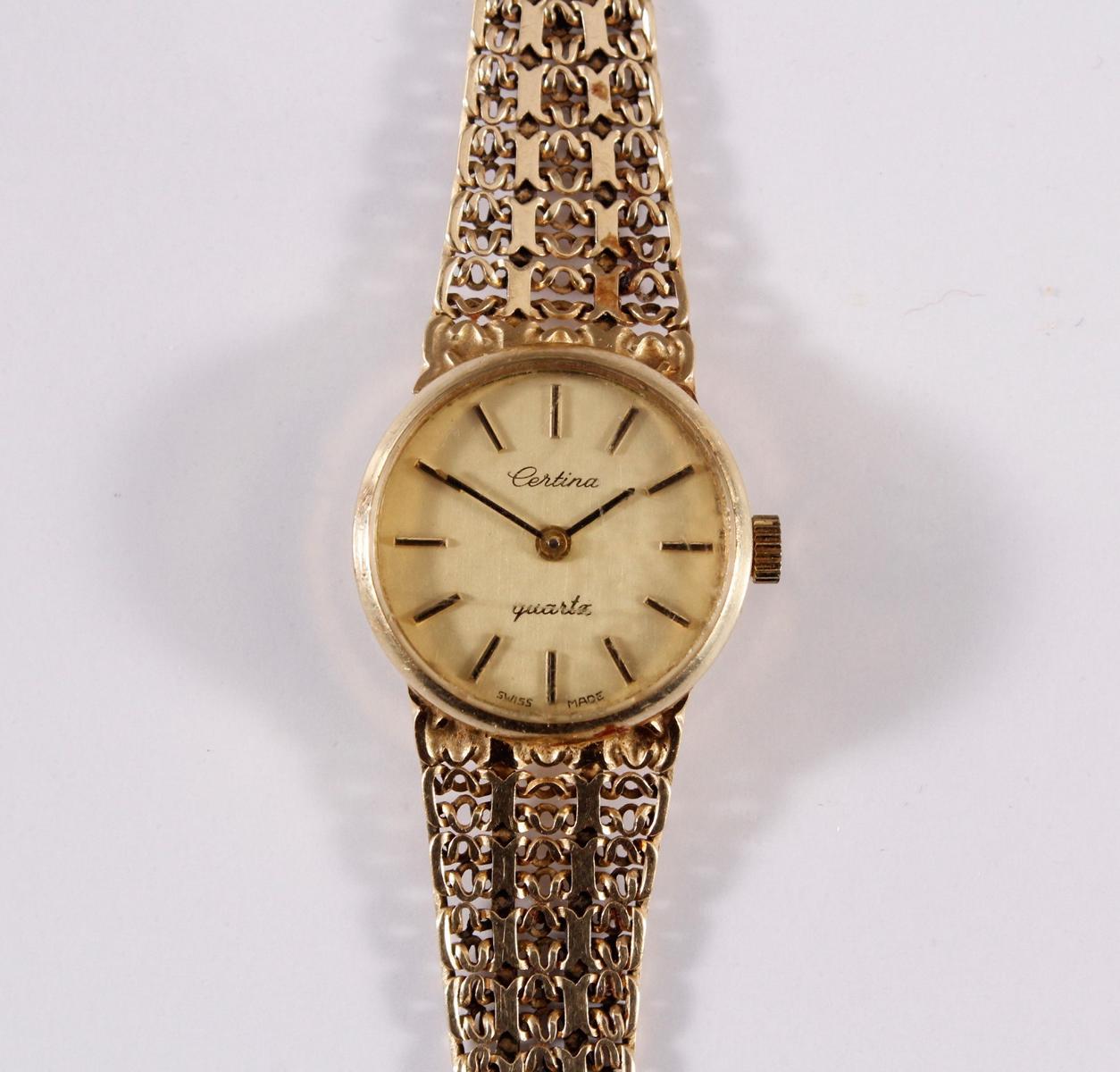 Damenarmbanduhr der Marke Sertina, 14 kt Gelbgold-2