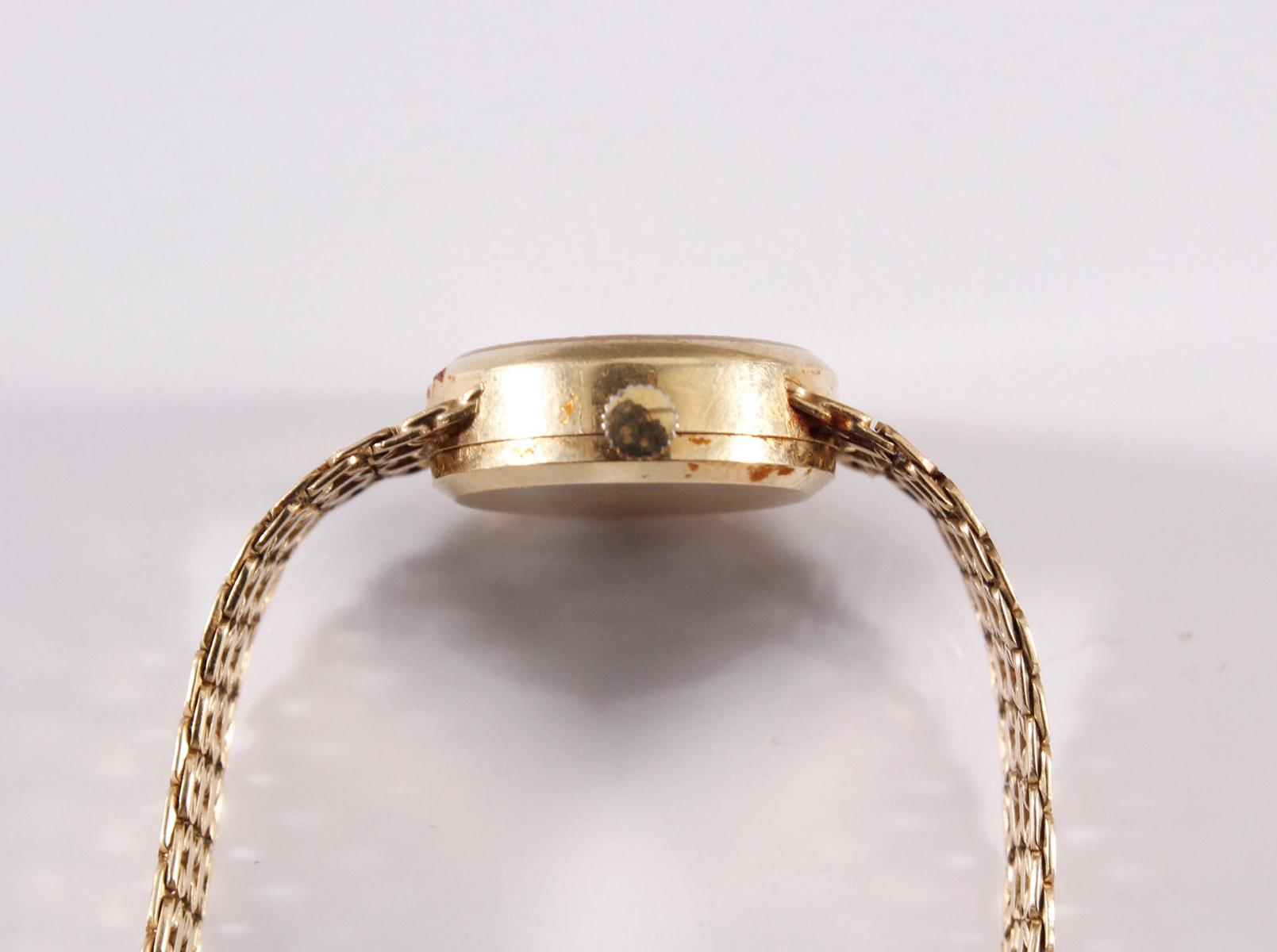 Damenarmbanduhr der Marke Sertina, 14 kt Gelbgold-3