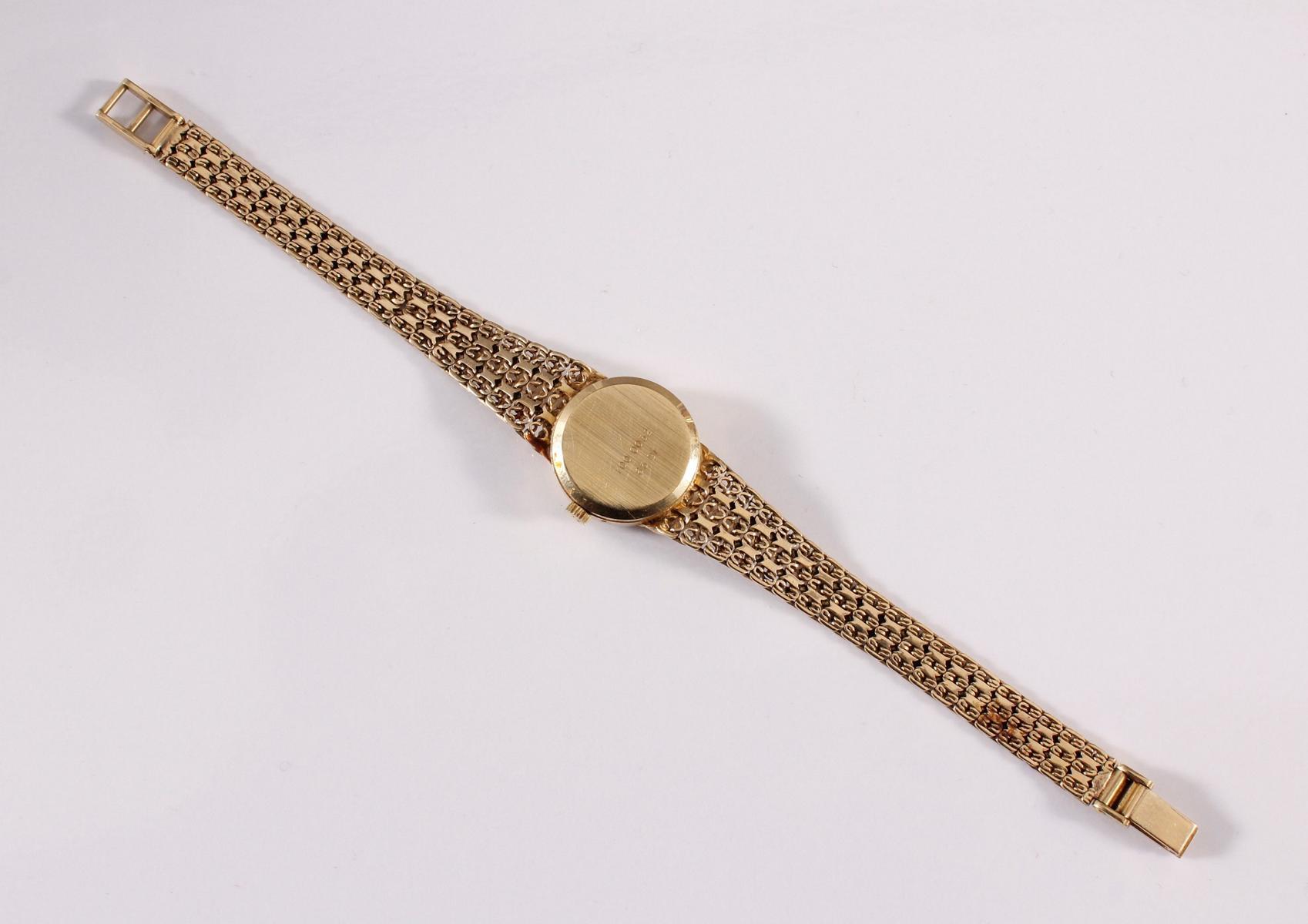 Damenarmbanduhr der Marke Sertina, 14 kt Gelbgold-4