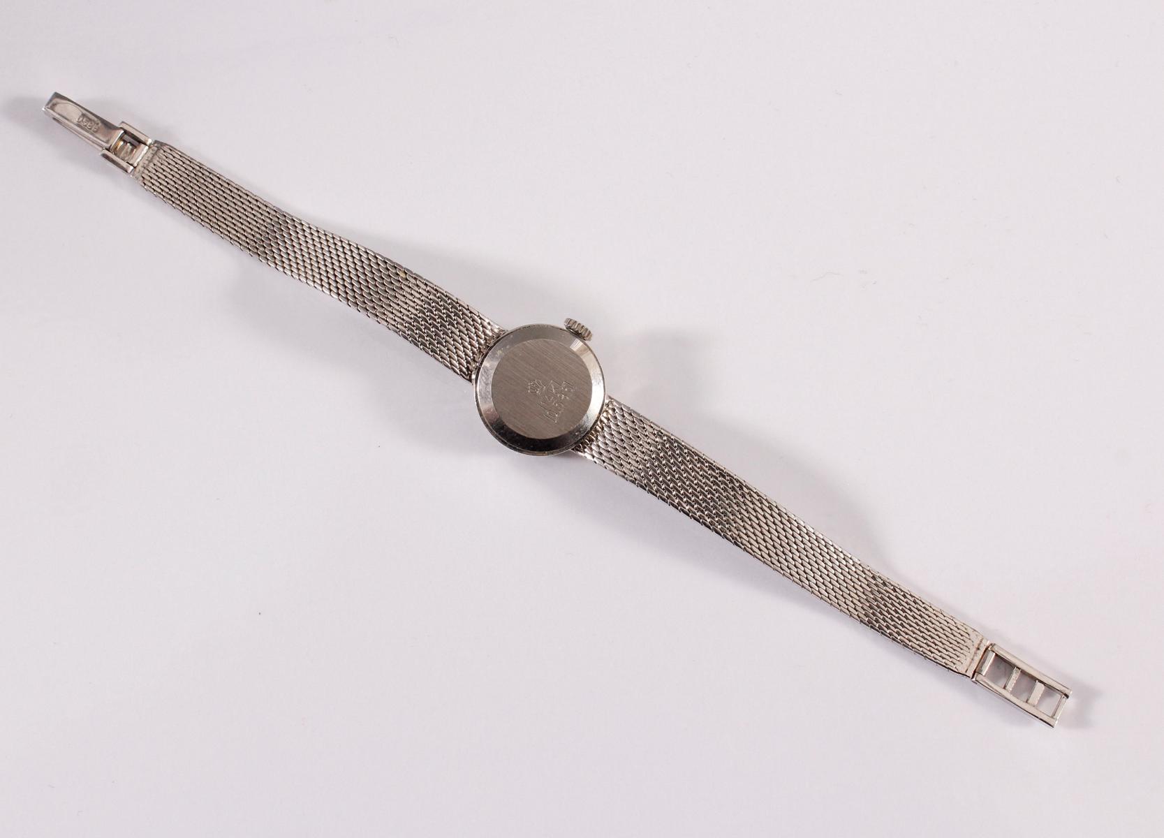 Damenarmbanduhr der Marke Beha mit Diamantkranz, 14 kt Weißgold-4