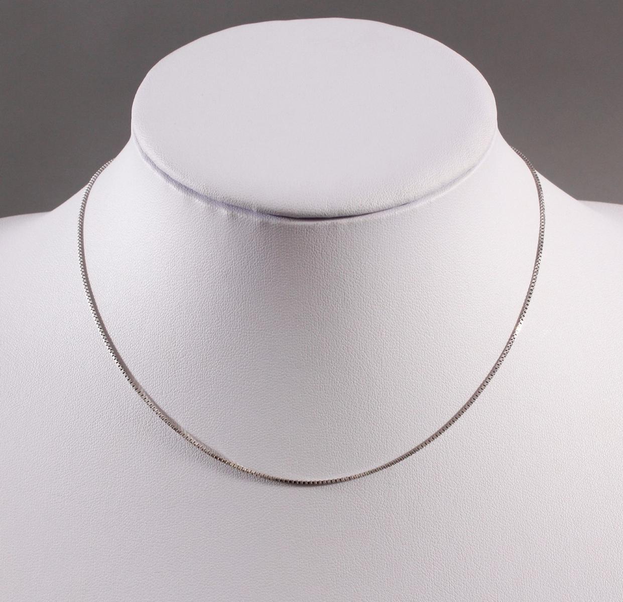 Halskette aus 14 kt Weißgold