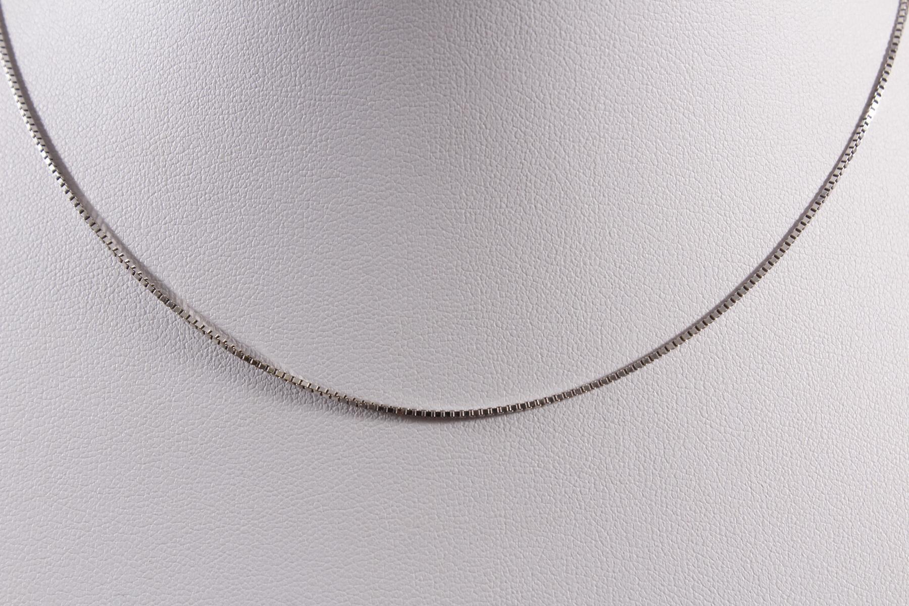 Halskette aus 14 kt Weißgold-2