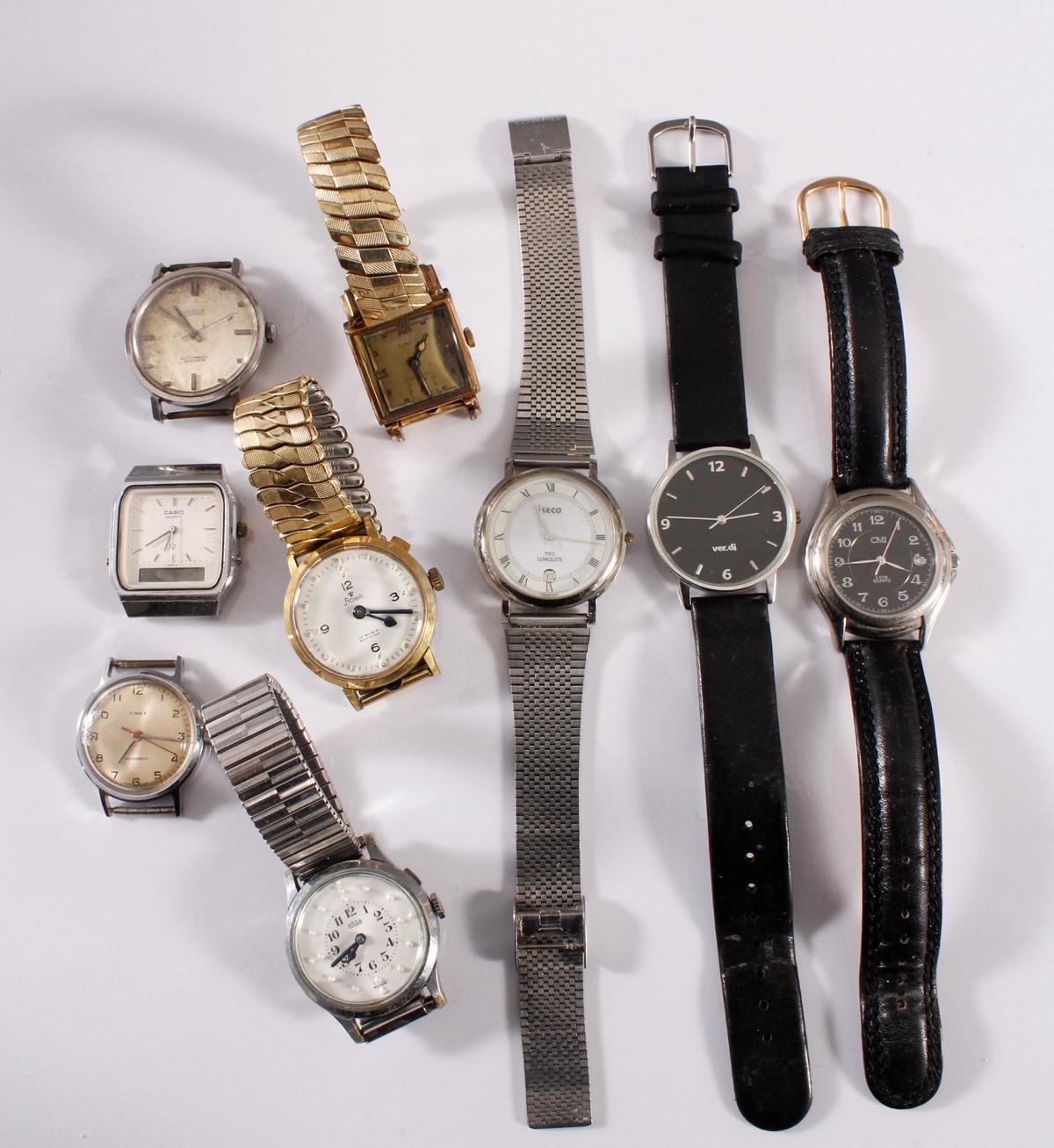 Konvolut Armbanduhren, 9 Stück