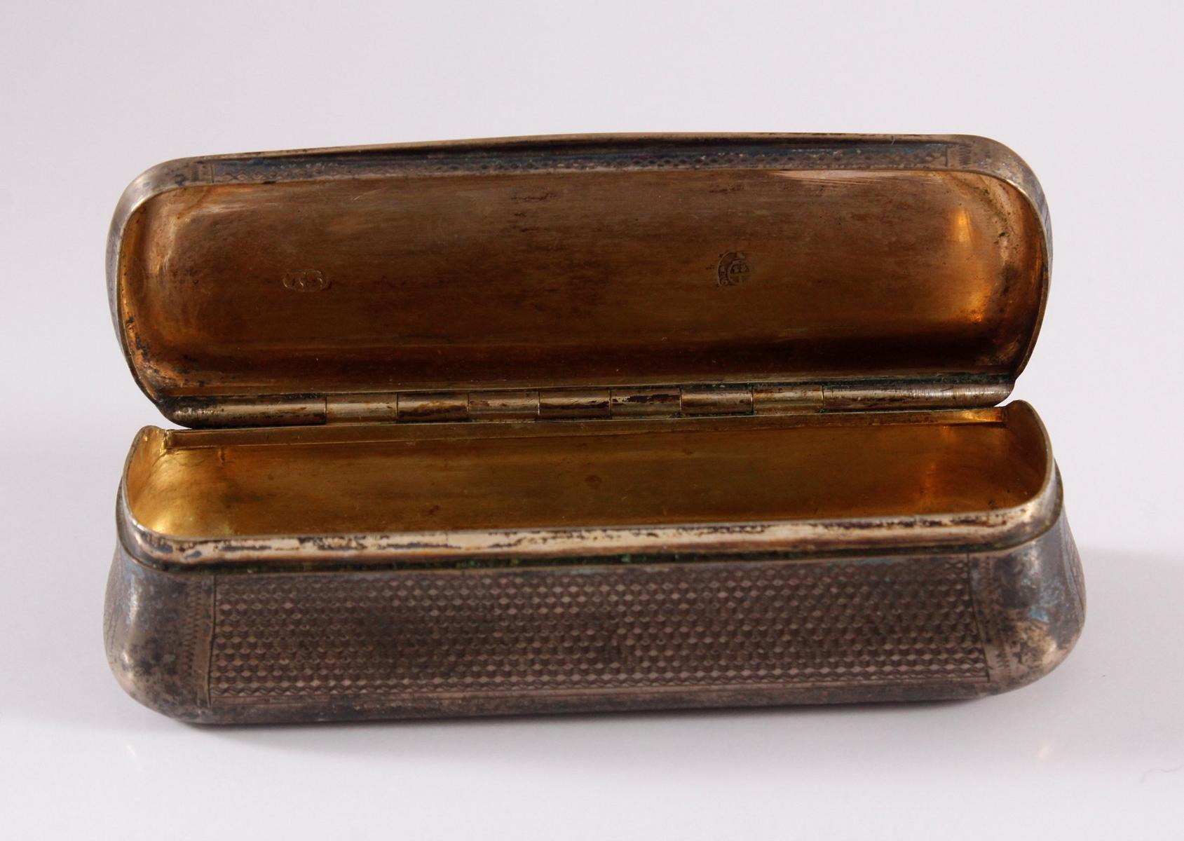 Biedermeier Schnupftabakdose, 13 lötig-4