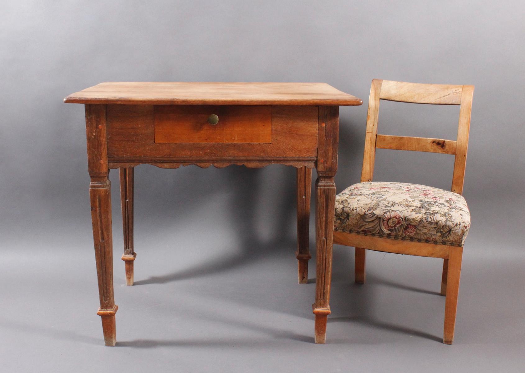 Barock Tisch und Stuhl