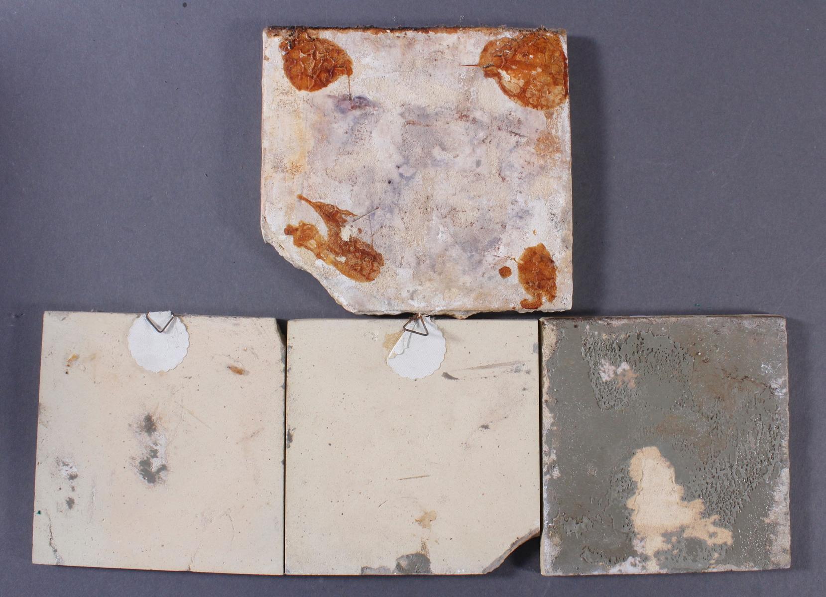 Vier Fayence Fliesen, 18./19. Jahrhundert-2
