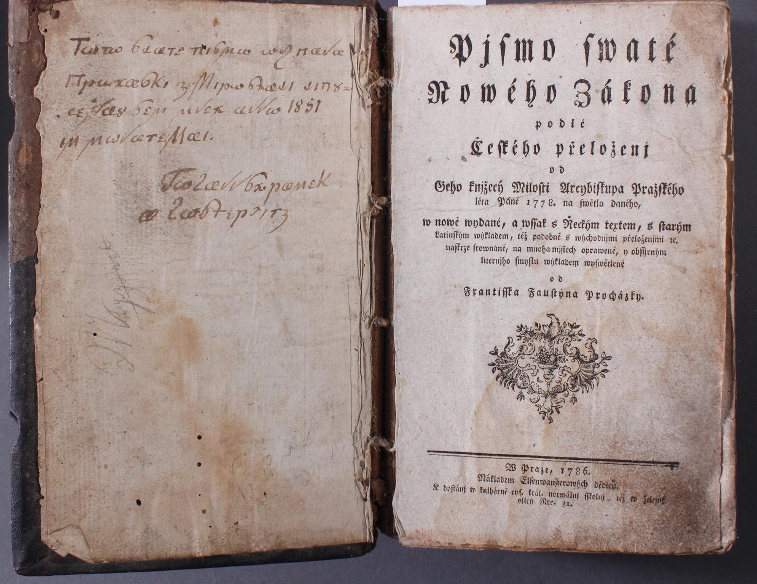 Tschechische Bibel von 1786. Písmo svaté Nového zákona-2