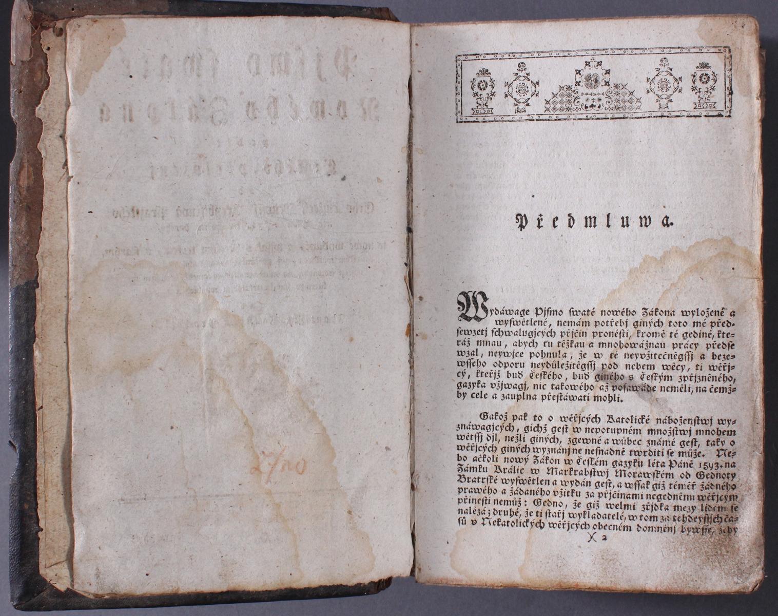 Tschechische Bibel von 1786. Písmo svaté Nového zákona-3
