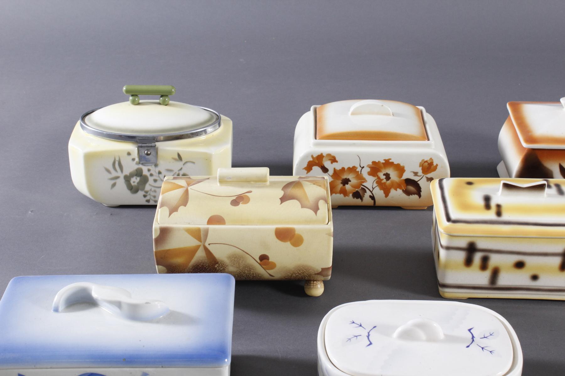 10 Keramik Gebäck- / Aufbewahrungsdosen-2