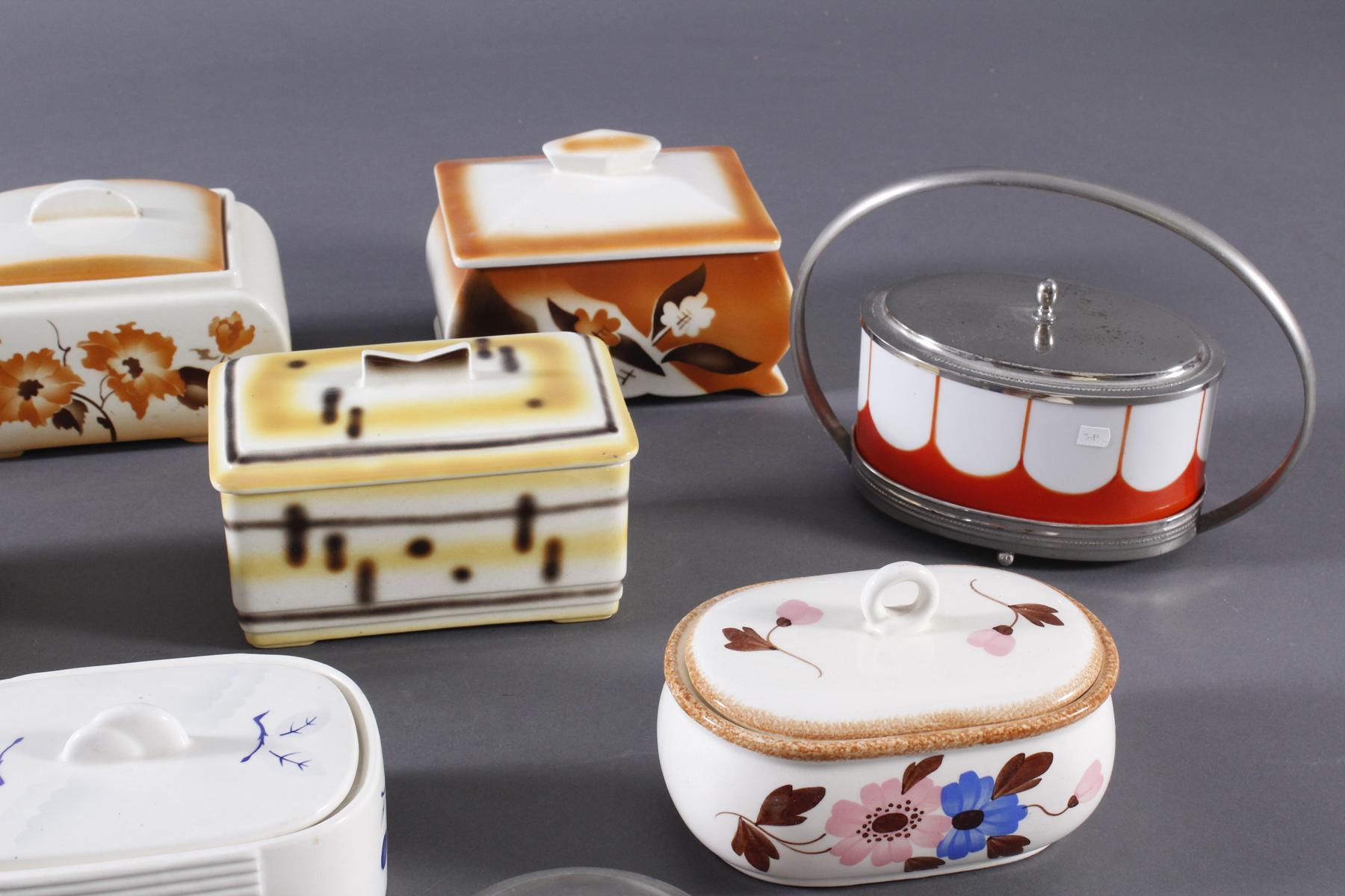 10 Keramik Gebäck- / Aufbewahrungsdosen-3