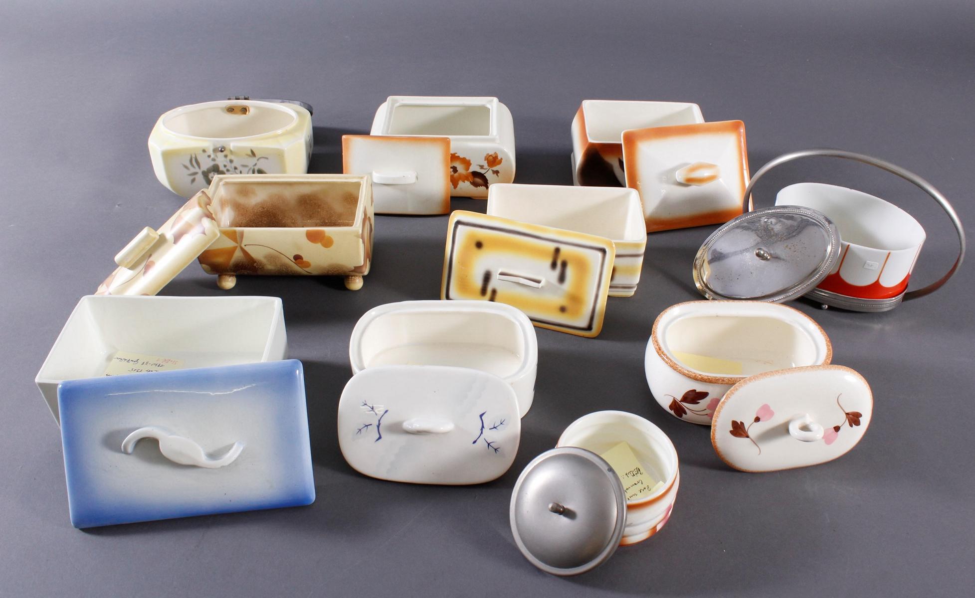 10 Keramik Gebäck- / Aufbewahrungsdosen-4