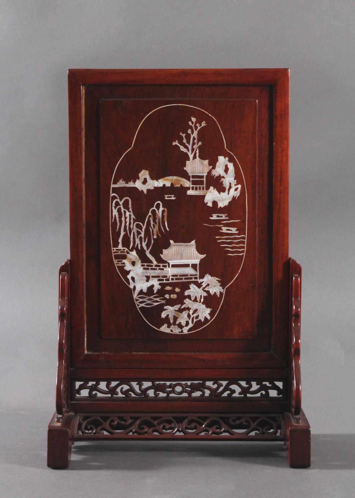 Tischpanel, China um 1920