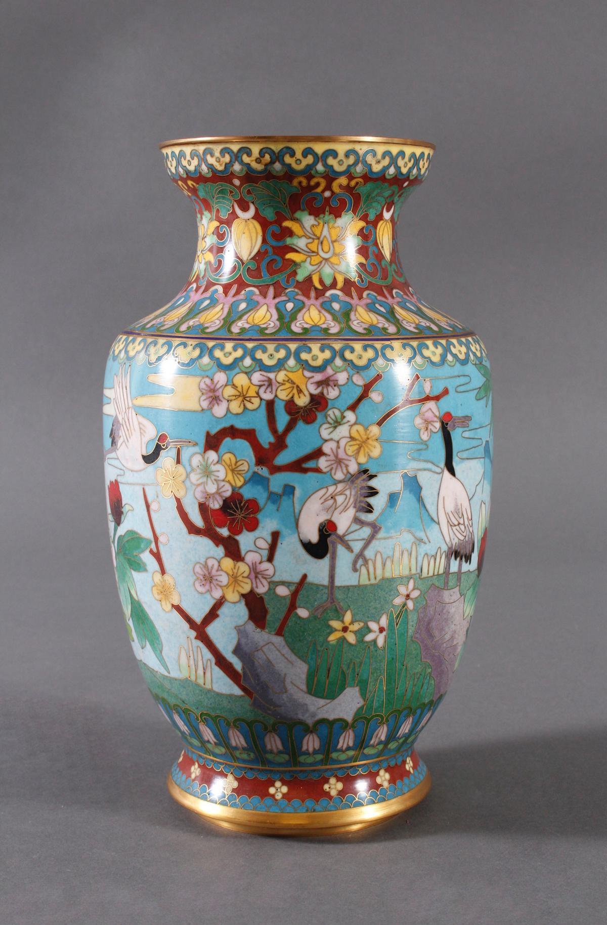 Cloisonne Vase, China, 1. Hälfte 20. Jahrhundert-2