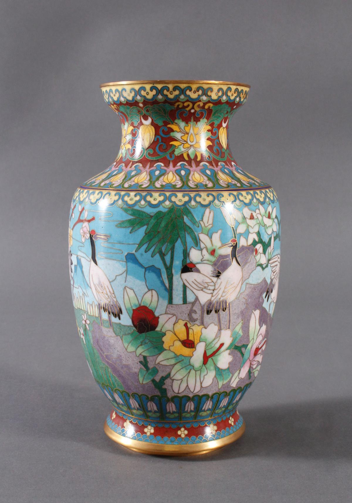 Cloisonne Vase, China, 1. Hälfte 20. Jahrhundert-3