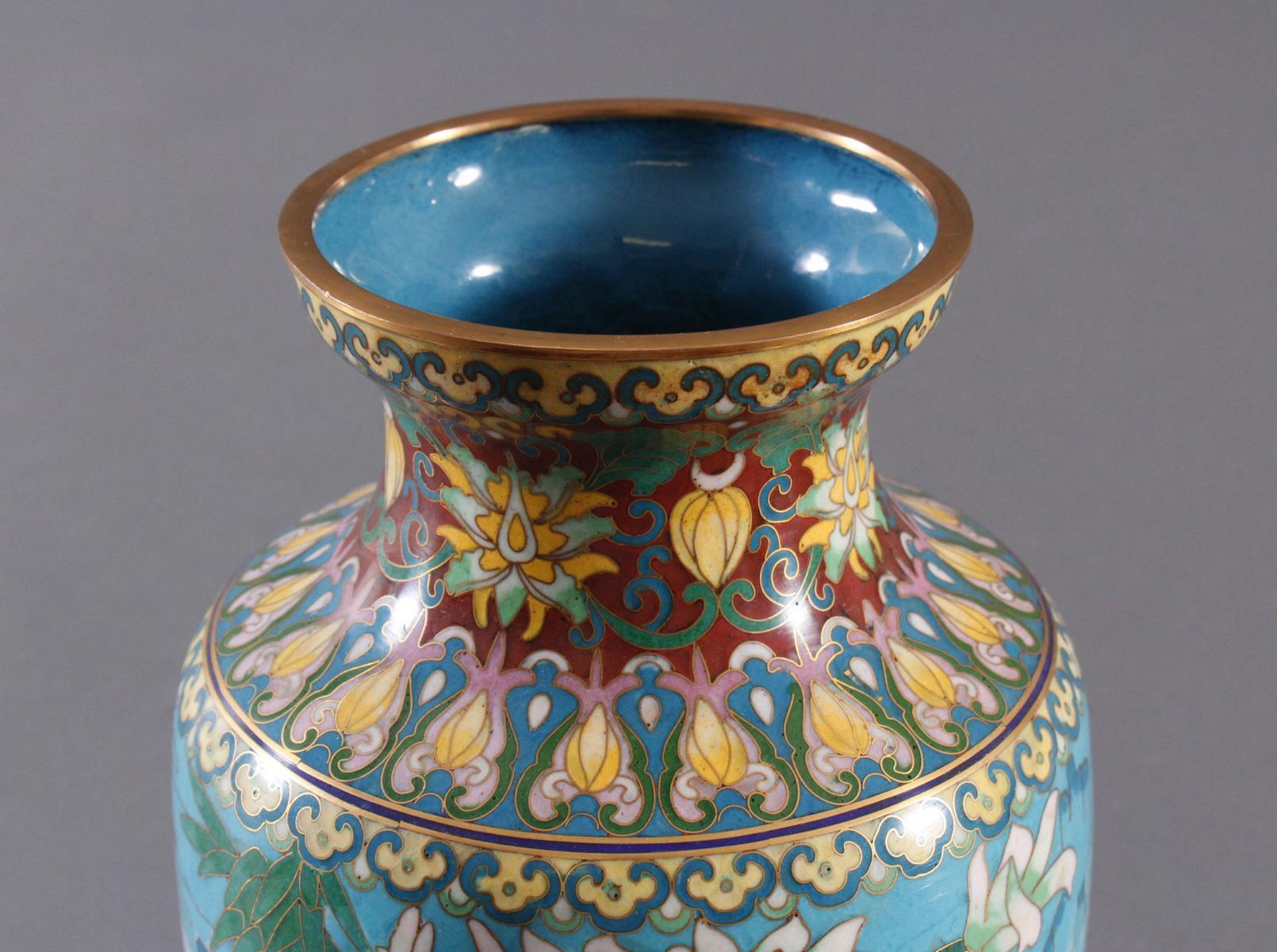 Cloisonne Vase, China, 1. Hälfte 20. Jahrhundert-5