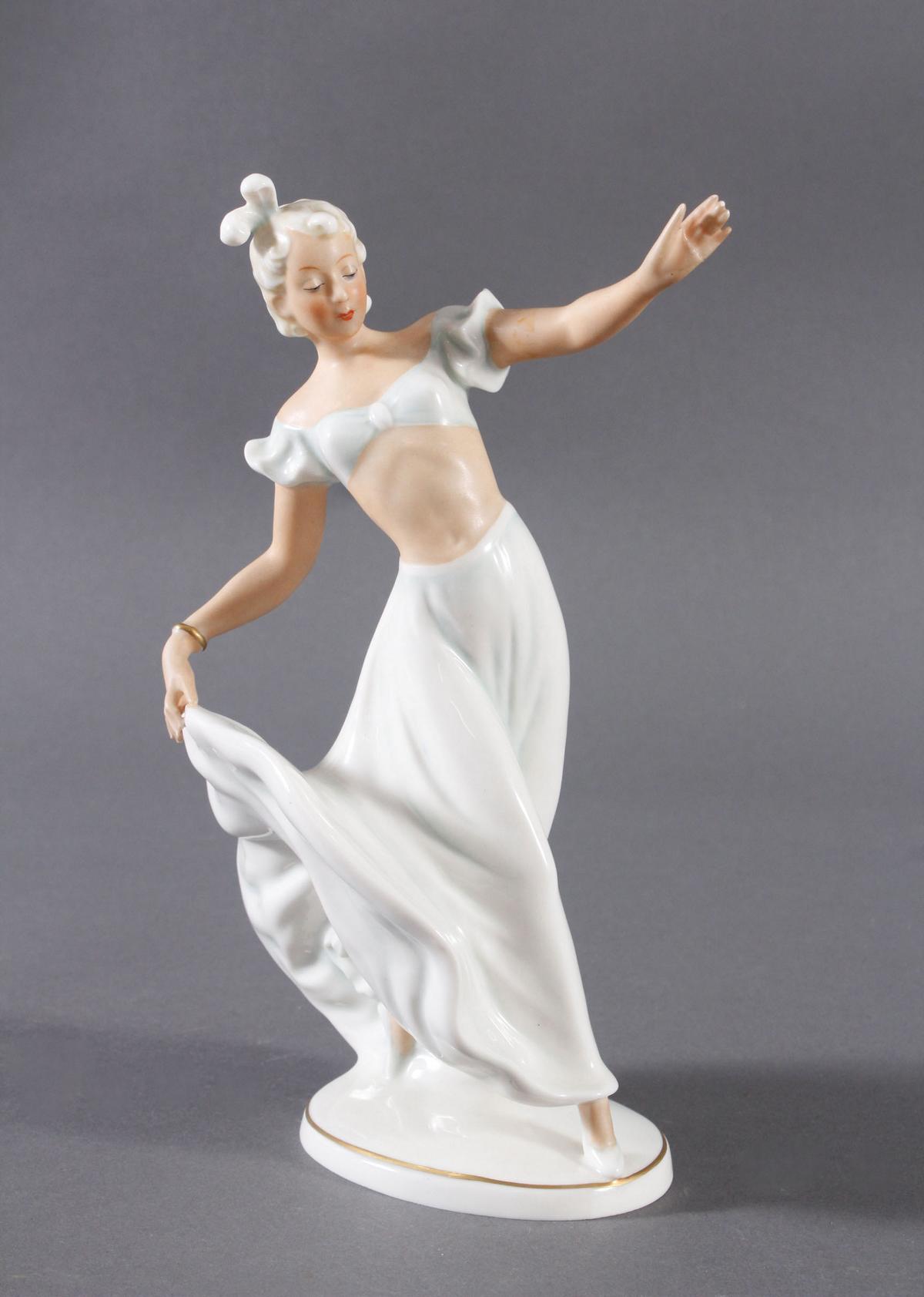 Porzellanfigur 'Tänzerin', Schaubach Kunst um 1930