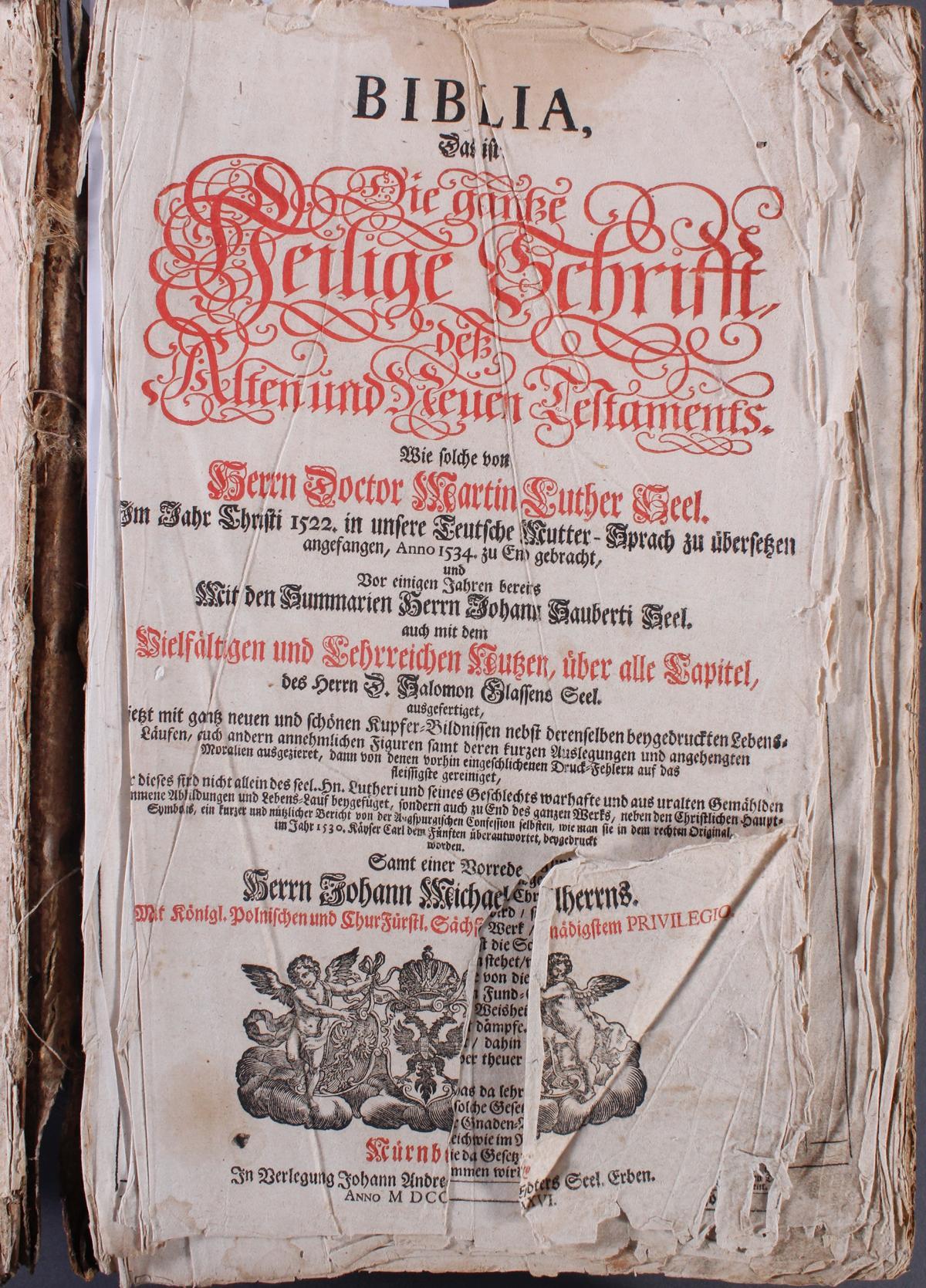Luther Bibel, 18. Jahrhundert-2