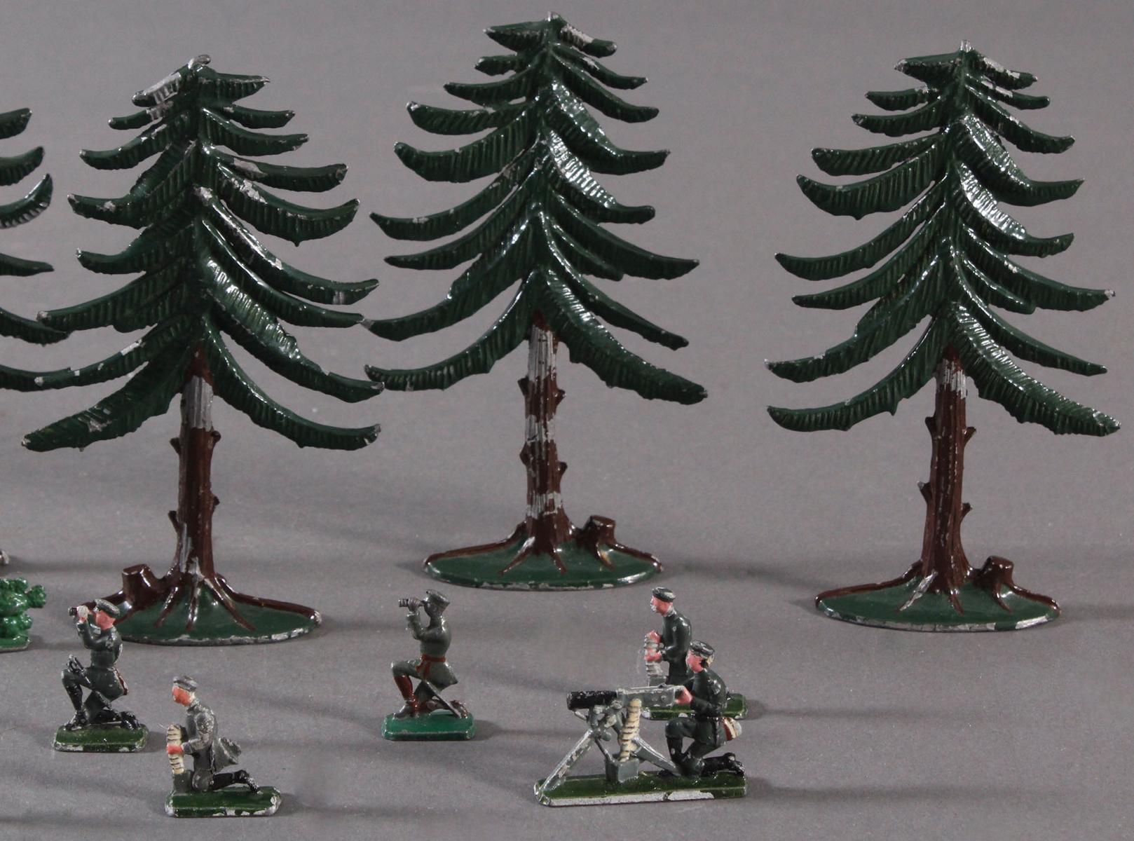 Zinnsoldaten und Fauna aus Zinn-3