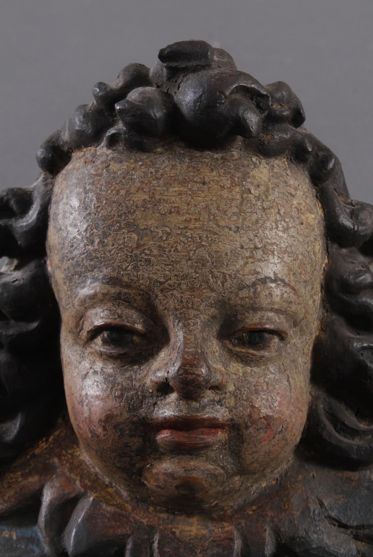Renaissance Engelskopf aus Wachau um 1620-3