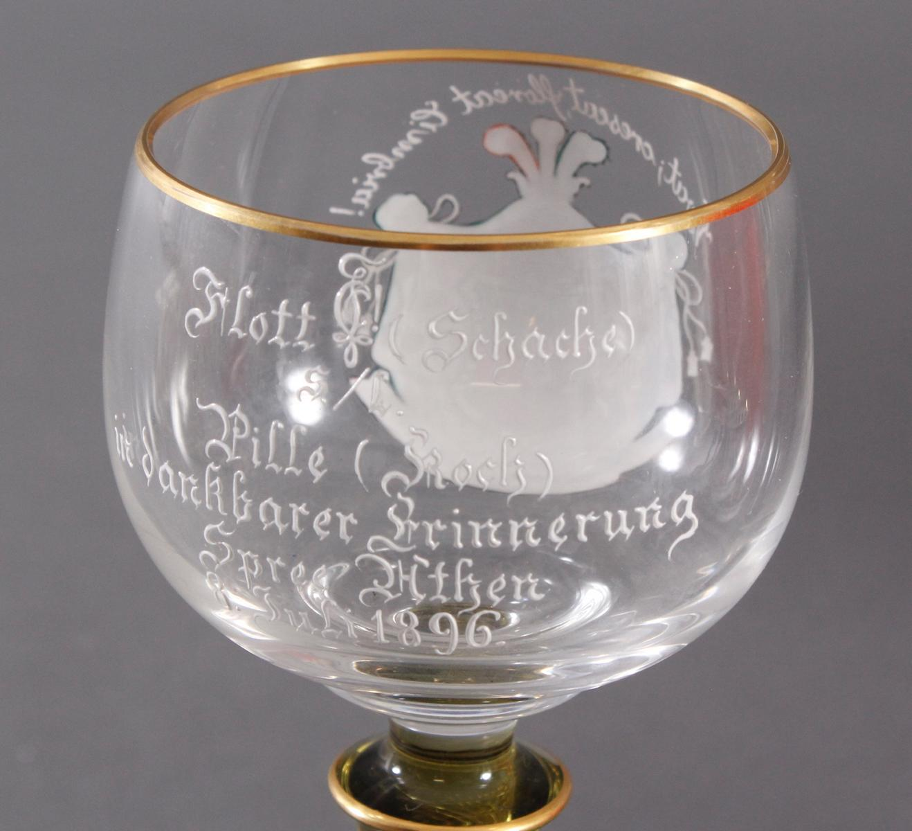 Andenkenglas, Verbindungsglas um 1900-5