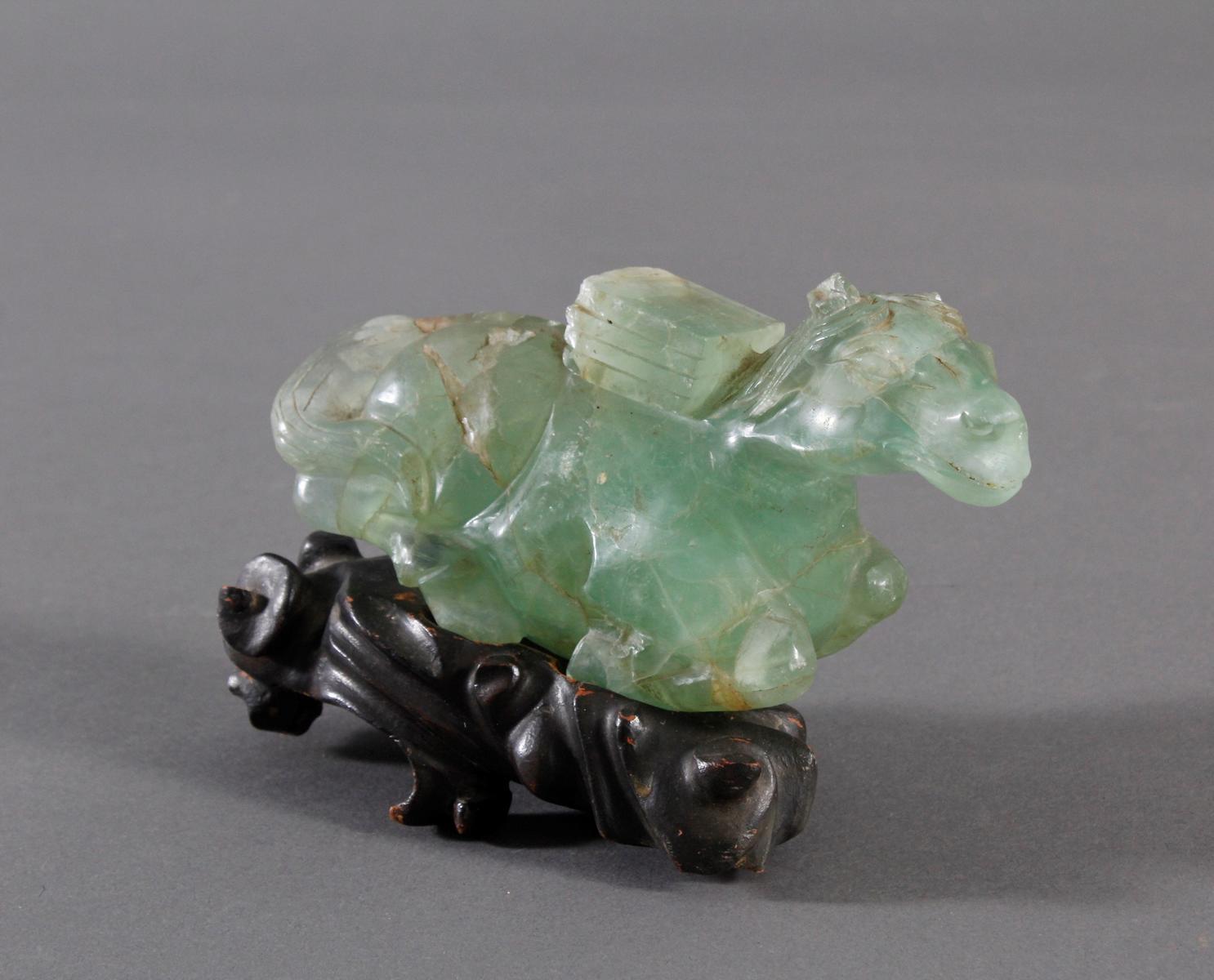 Tierplastik aus Beryll, China 19. Jahrhundert-2