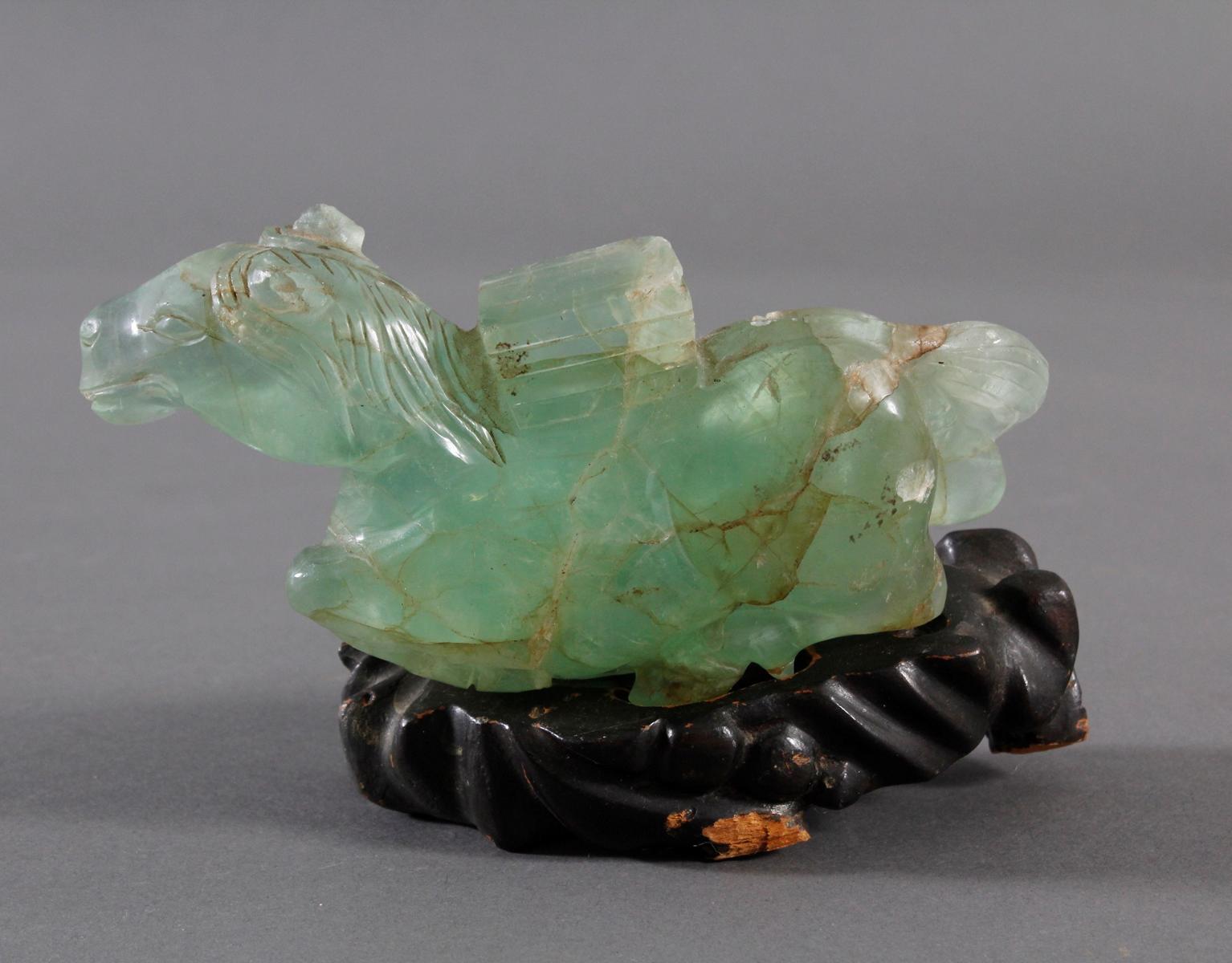 Tierplastik aus Beryll, China 19. Jahrhundert-3