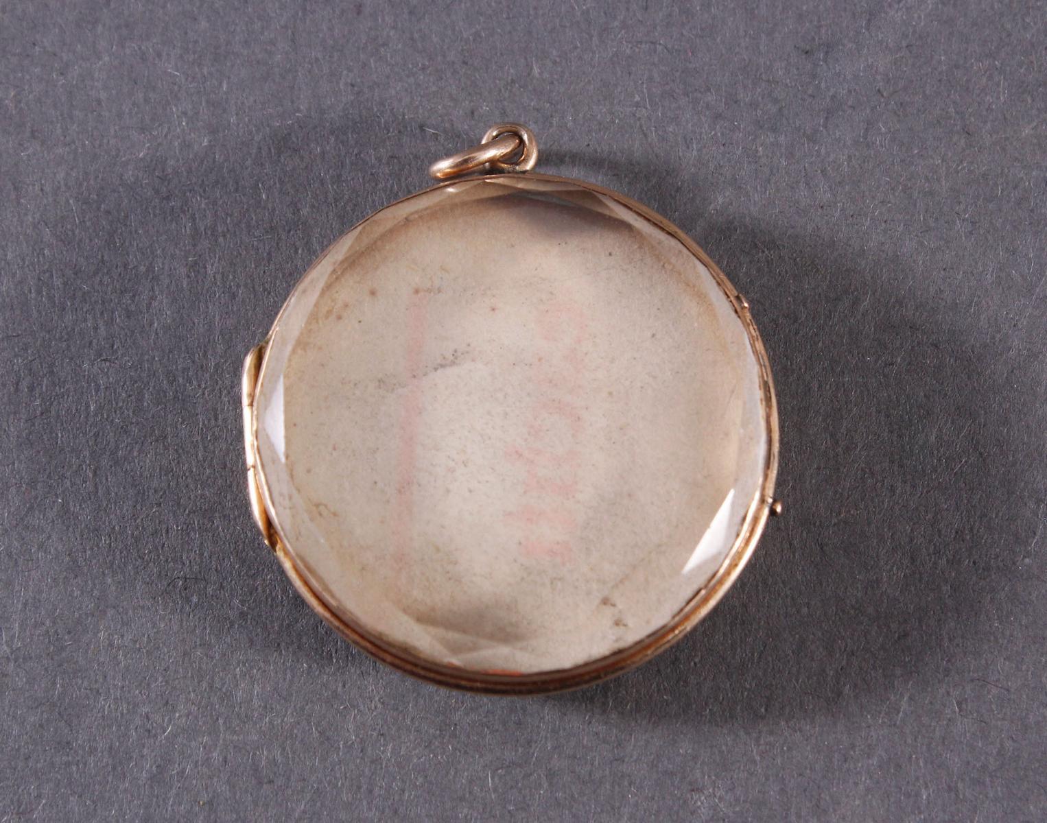 Rundes Medaillon um 1900, 18 kt Gelbgold-2