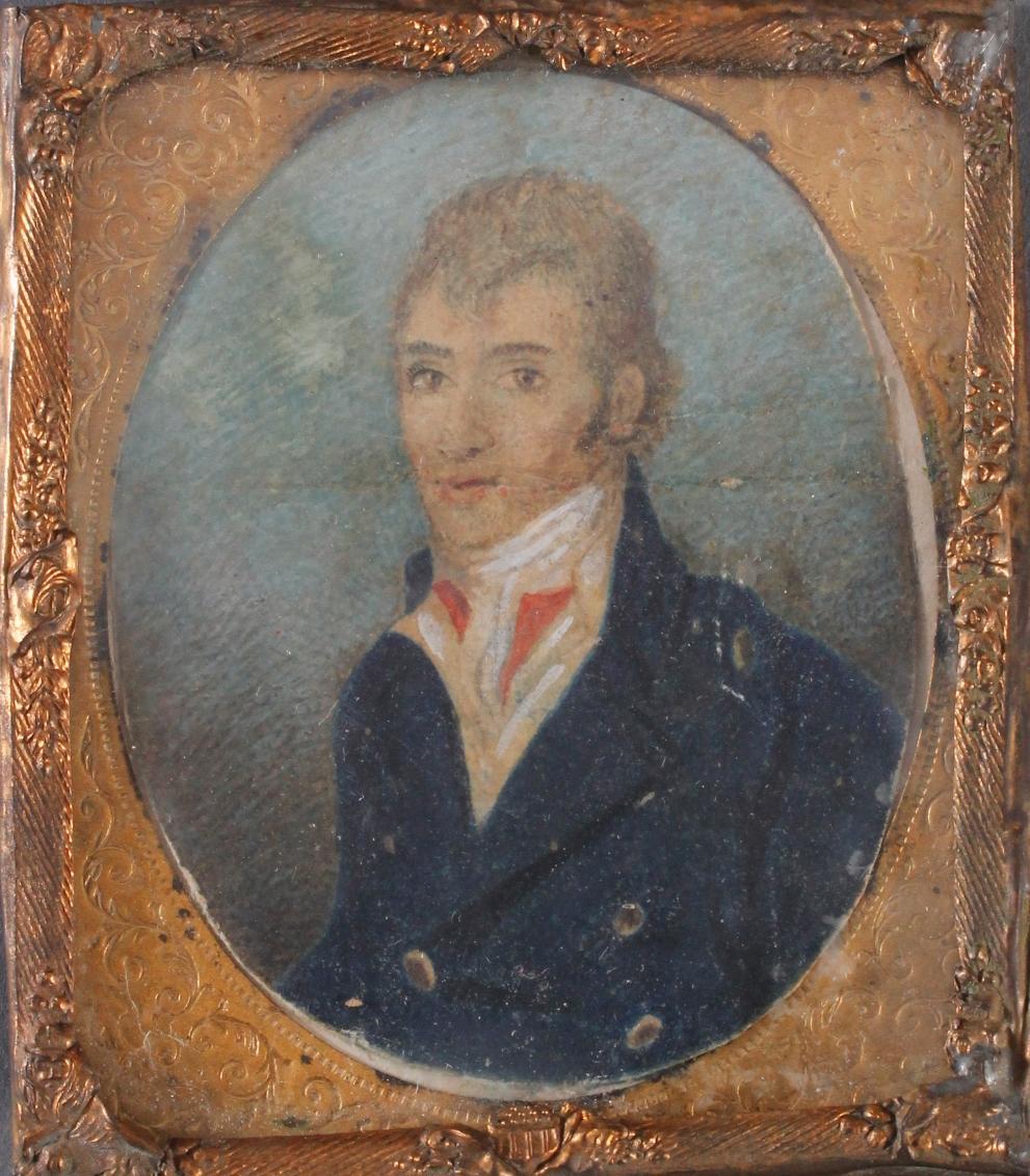 Portrait eines Adligen nach links aus dem frühen 19. Jh. Unbekannter Maler