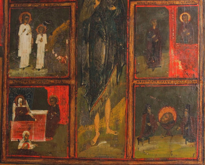 Russische Mehrbild Ikone eines Heiligen, 19. Jahrhundert-3