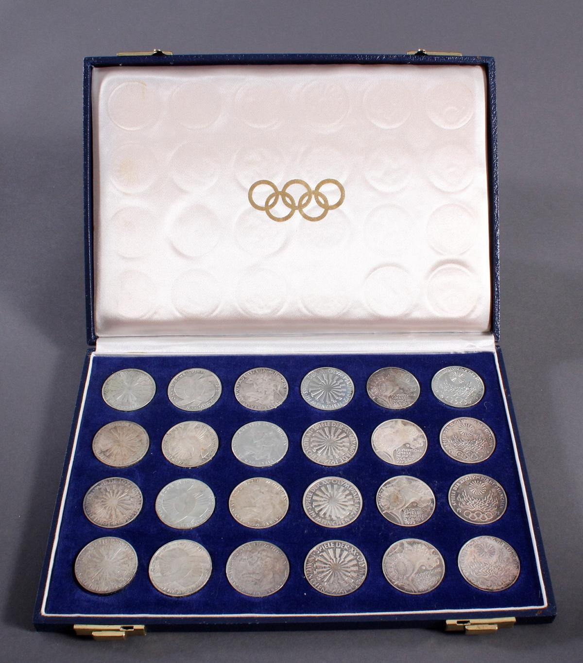 24x 10 DM Olympische Spiele 1972