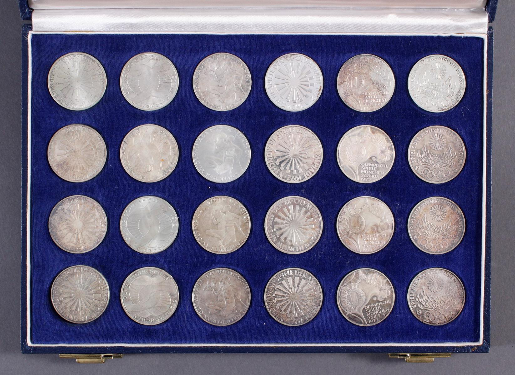 24x 10 DM Olympische Spiele 1972-2