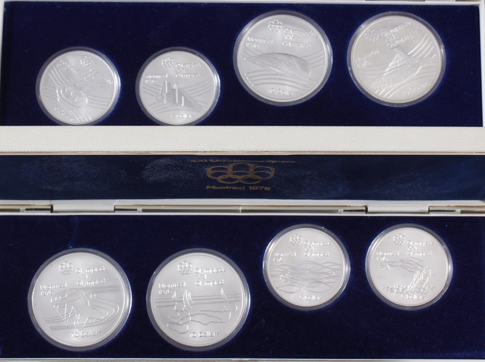 28x Silbermünzen Montreal 1976, kompletter Satz-3
