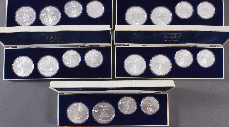 28x Silbermünzen Montreal 1976, kompletter Satz-4
