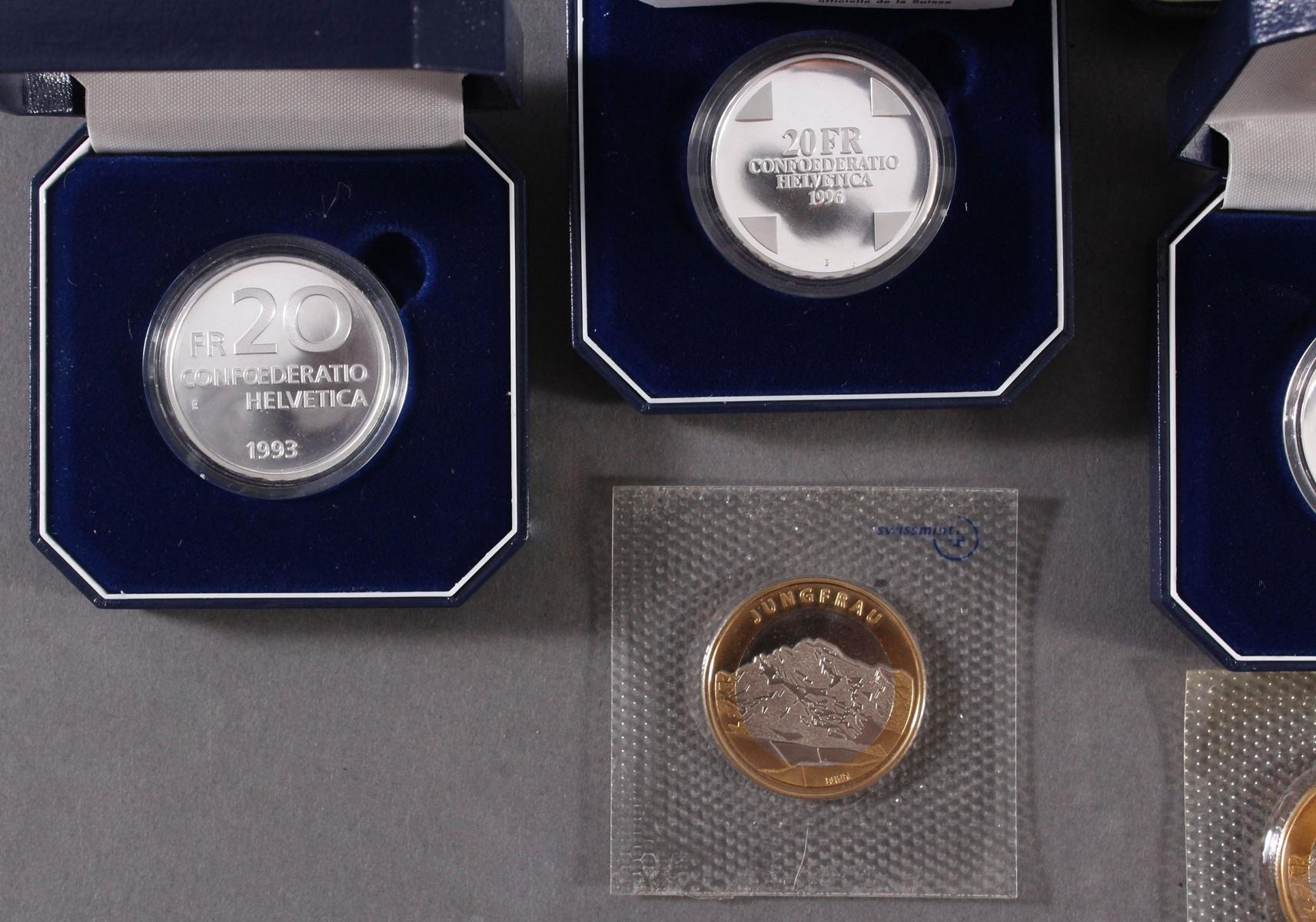 Schweizer Franken, 10 FR und 20 FR Münzen-2