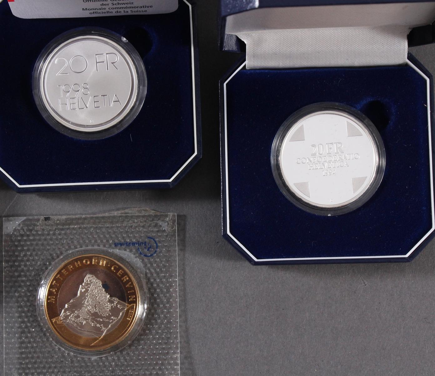 Schweizer Franken, 10 FR und 20 FR Münzen-4