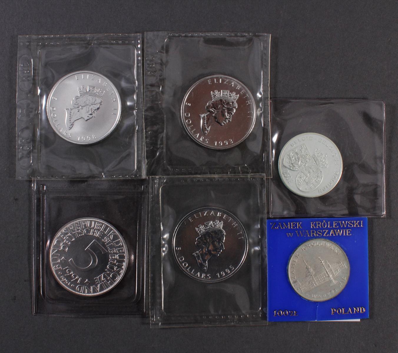 Silbermünzen und Medaillen