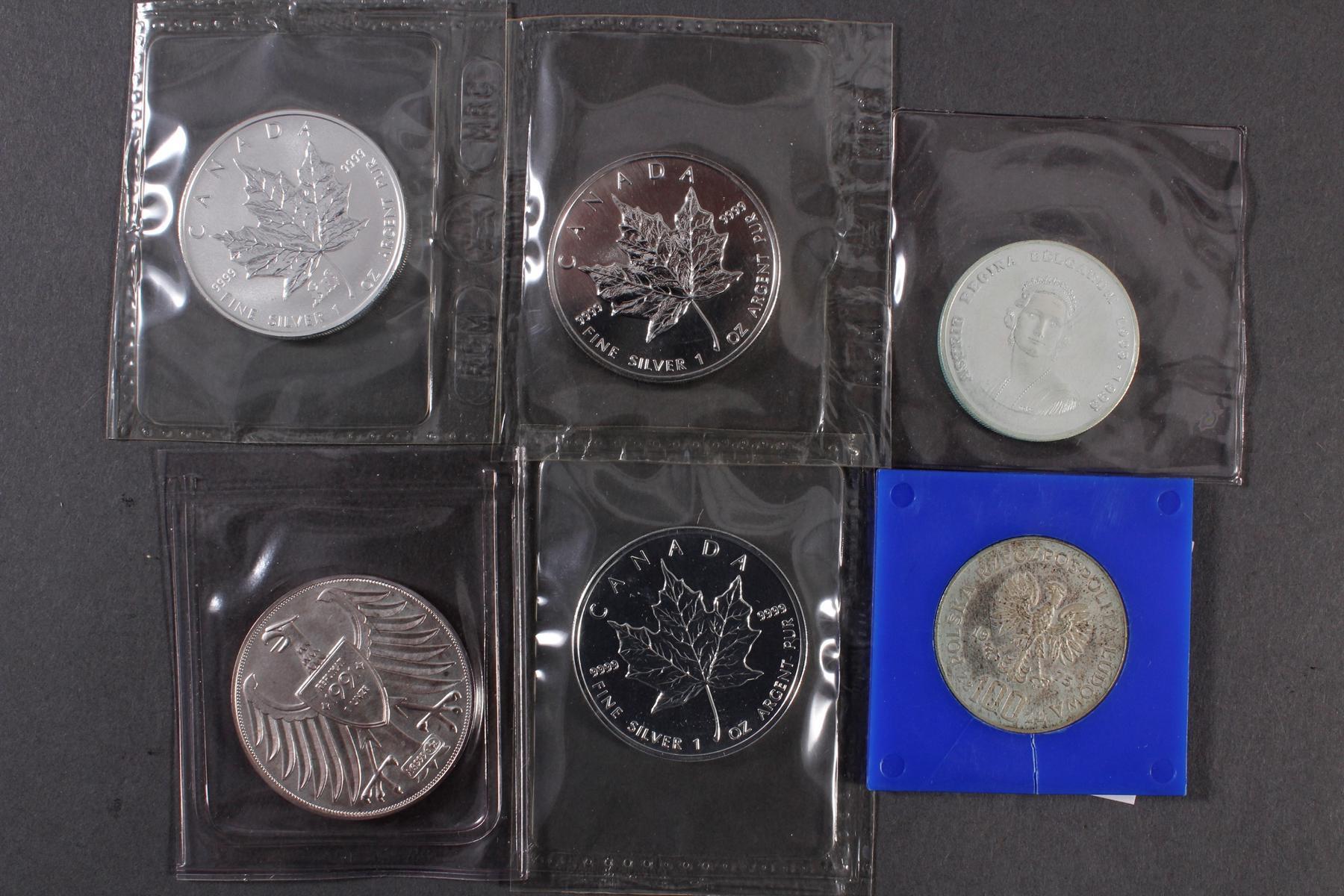 Silbermünzen und Medaillen-3