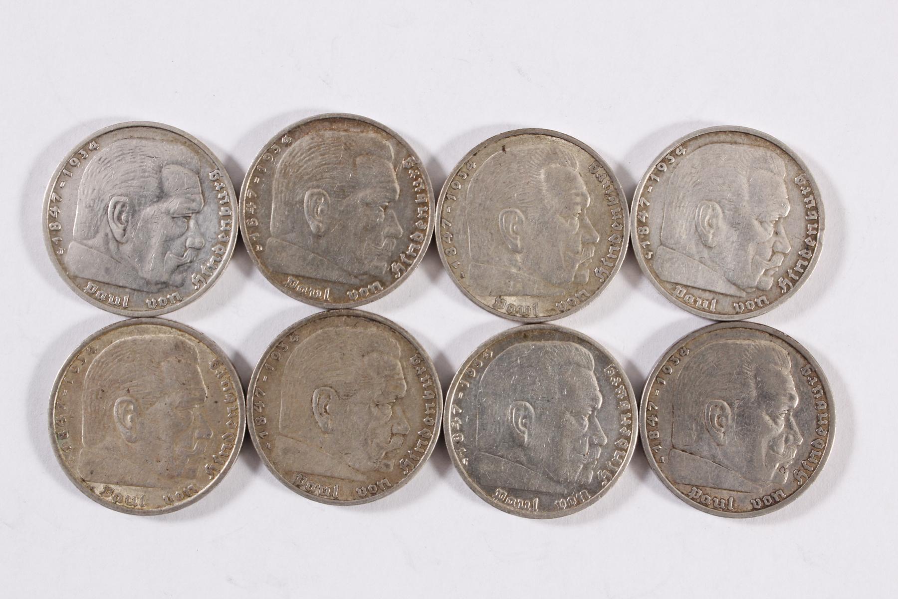 Deutsches Reich, 8x 5 Reichsmark