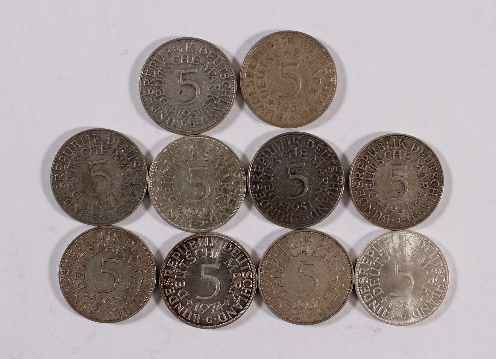 Deutsches Reich, 8x 5 Reichsmark-3