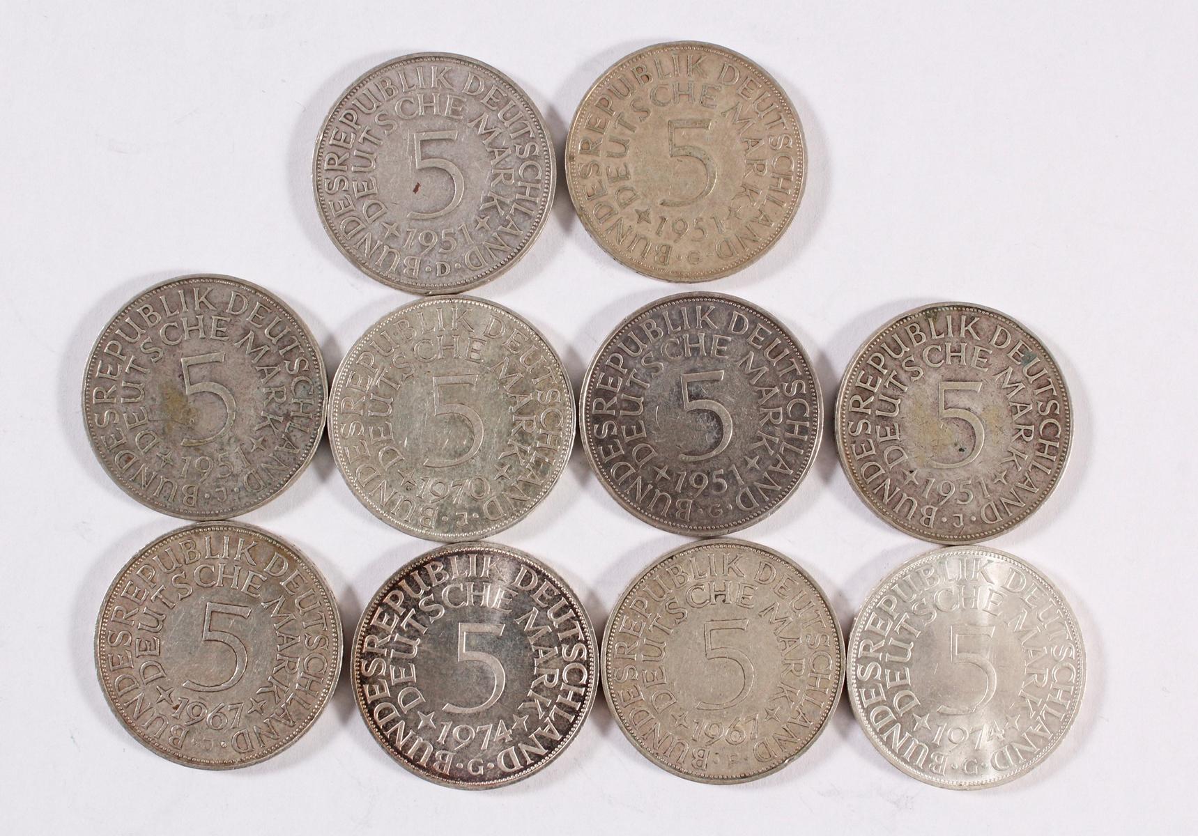 Deutsches Reich, 8x 5 Reichsmark-4