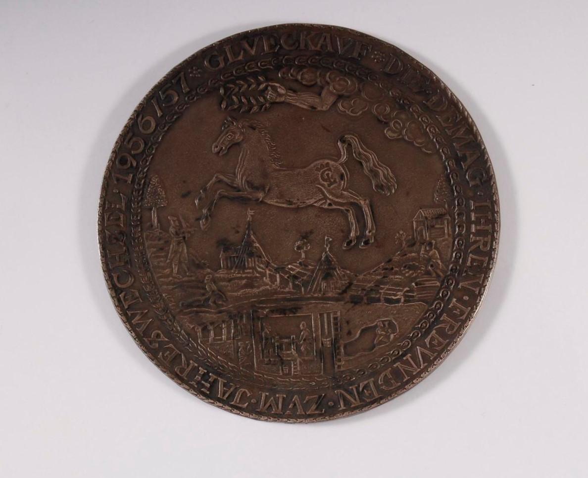 Silbermedaille, Demag Ag Duisburg Zum Jahreswechsel 1956/1957